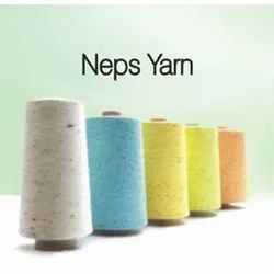 Ring Spun Plain Neps Cotton Blended Yarn, For Textile Industry, Count: 50