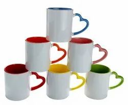 Absprints Multicolor Couple Love Handle Coffee Mugs For Sublimation Printing for Home, Size: 11 Oz