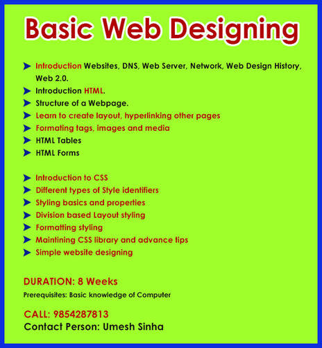 Web Designing Tutorial In Guwahati By The Programming Academy Id 20010846091
