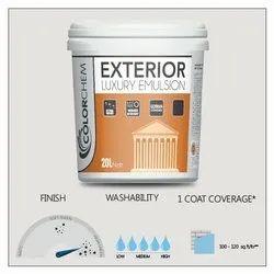 Colorchem High Sheen Exterior Luxury Emulsion Paint, Packaging Size: 20 Ltr