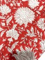 Vinayak Handicraft Natural Color Running Fabric Handmade Mughal Flower Design