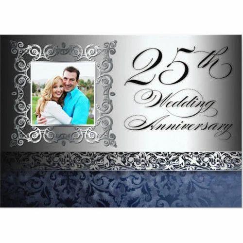 Rectangular Wedding Anniversary Invitation Card