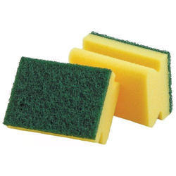 Green And Yellow Cleaning Scrubbers