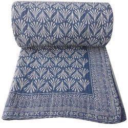 Indigo Hand Block Print Quilt