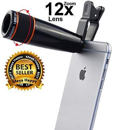 b78af6a2e47357 12X HD Zoom Mobile Camera Telescope Lens for Android/Apple Smartphones