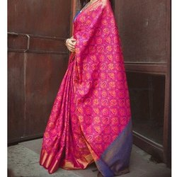 Printed Ladies Ethnic Wear Saree, 5.5 M (separate Blouse Piece)