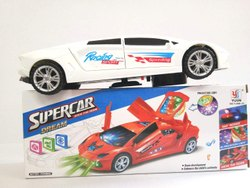 Funblast 3 d Super Car Toy Car Toy  With 360 Degree Rotation & Door Opening