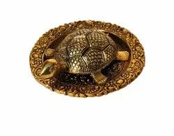 Antique Brass Turtle With Tray Set
