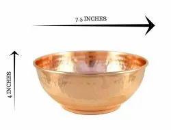 Copper Hammered Bowl