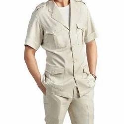 Cotton Formal Safari Suit