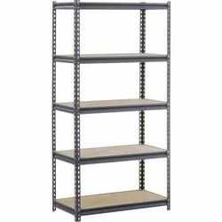 Stainless Steel Angle Frame Slotted Angle Storage Racks, For Industrial