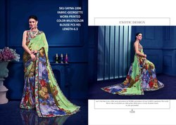 Rachna Georgette Sayna Catalog Saree Set For Woman 6