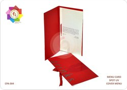 Muticolor Menu Cards With Spot UV Printing Services