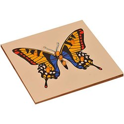 Butterfly Puzzle /Wooden Knobbed Puzzle / Montessori puzzle
