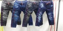 Casual Wear Stretchable Kids Stylish Denim Jeans, Age: 1 Year To 14 Year