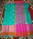 Pure Silk Multi Color Saree, Machine Made