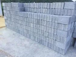 Solid Rough HOLLOW BLOCK, for Side Walls, Size: 15 IN X 4 IN x 7.5 IN