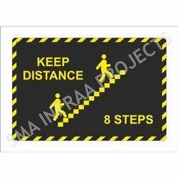 Keep Distance Safety Sticker