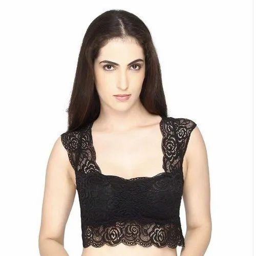 8de5e883f3 Mysha Black Saree Blouse Bra