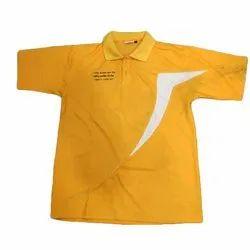 Polyester Half Sleeves Kids Printed Sports T-Shirt