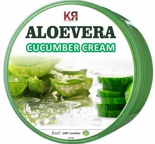 KR Enterprises Natural Aloevera Cucumber Cream, Packaging Size: 200 Gm, for Personal
