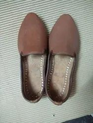 Men Brown Leather Shoes, Shape: Round, Packaging Type: Poly Bag