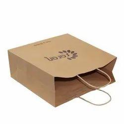 Regular Pattern Kraft Paper Grocery Bag, For Shopping, Capacity: 1-7 kg