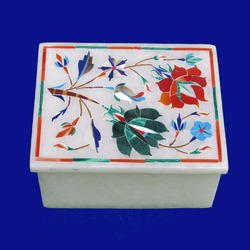 Handcrafted Indian Floral Marble Inlay Box