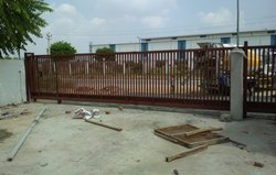 Iron Brown Sliding Gate for Commercial