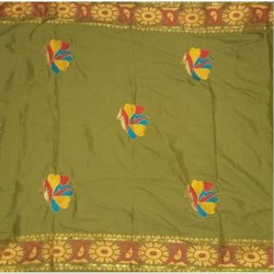 36 Inch Embroidered Intorica George Fabric, For For Saree, Ladies Suit, Packaging Type: Poly Bag