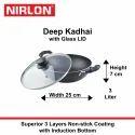 Nirlon Induction Bottom Deep Kadai
