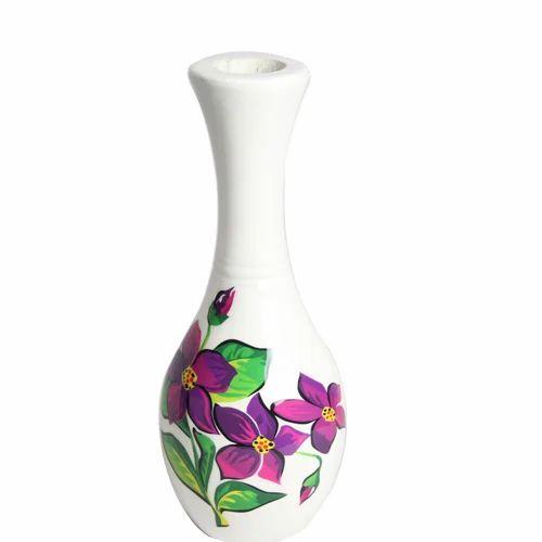 hand painted flower vase haath chitrit phooldan �������