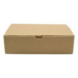 Brown Rectangular Corrugated Box