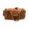 Vinatge Leather Duffle Travel Bag