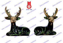 Sitting Deer In Pair