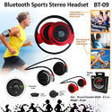 Black Enhance Bluetooth Stereo Headset Bt-09