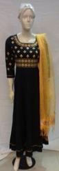 Black Embroidery Suit