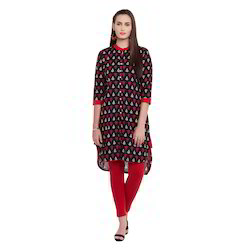 Printed High Low Style Cotton Kurti