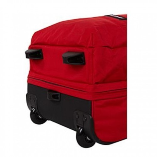 Polyester Trolley Bag Red Wheeled Duffle Bag