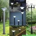 Refurbished Solar Waterproof Pillar Wall Gate Post Lamp