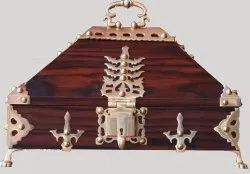 Embroidered Nettoor box / Ornamental Box, For Home