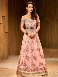 4aee32fc6f58 Khwaab Fusion Off Shoulder Blush Pink Gown at Rs 9999  piece