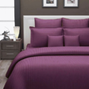 Plain Satin Stripe Bed Sheet