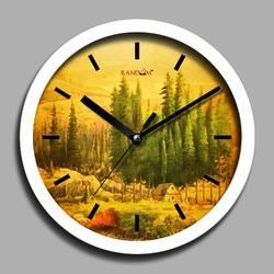 Dream White Wooden Wall Clock