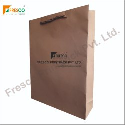 Kraft Paper Bag with Twisted Paper Handle