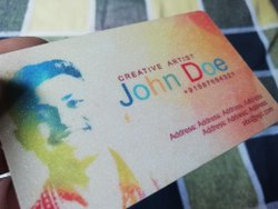 White Textured PVC Business Cards