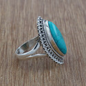 Nice Turquoise Gemstone Fashion Jewelry Ring Wr-2830