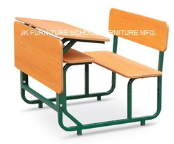 School Dual Desk Bench