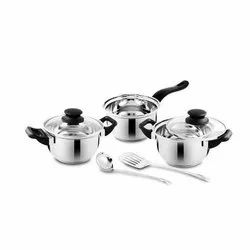 Stainless Steel Cookware Set, For Kitchen