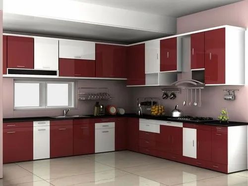 Wooden Straight Multiwood With Autopaint Finished Modular Kitchen Work Provided Wood Work Furniture Rs 2300 Square Feet Id 21926023497